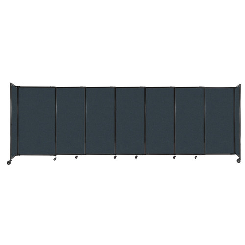"""StraightWall Sliding Portable Partition 15'6"""" x 5' Blue Spruce Fabric"""