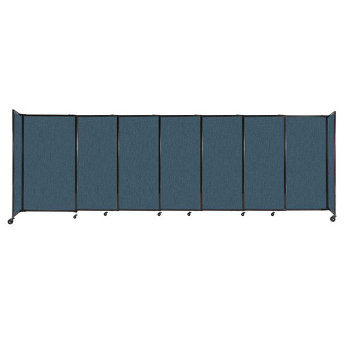 """StraightWall Sliding Portable Partition 15'6"""" x 5' Caribbean Fabric"""