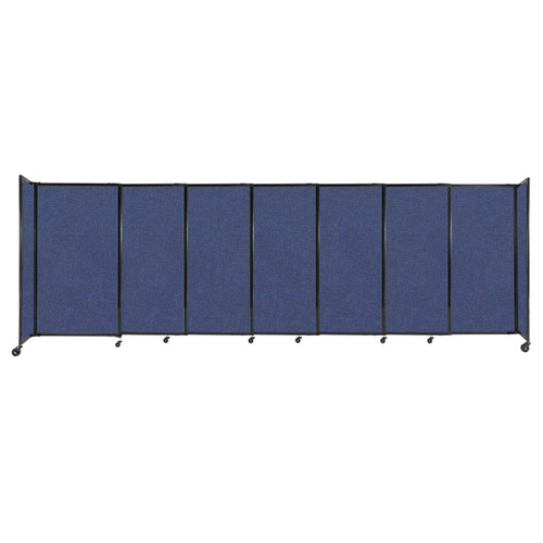 """StraightWall Sliding Portable Partition 15'6"""" x 5' Cerulean Fabric"""