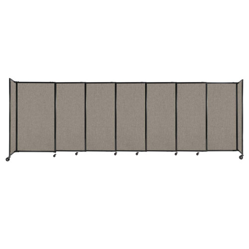 """StraightWall Sliding Portable Partition 15'6"""" x 5' Warm Pebble Fabric"""