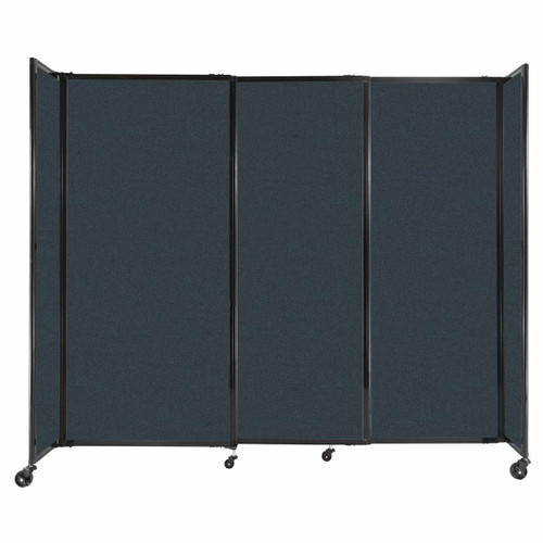 """StraightWall Sliding Portable Partition 7'2"""" x 6' Blue Spruce Fabric"""