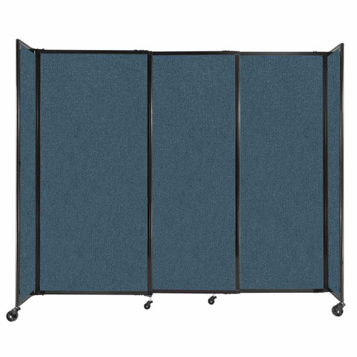 """StraightWall Sliding Portable Partition 7'2"""" x 6' Caribbean Fabric"""