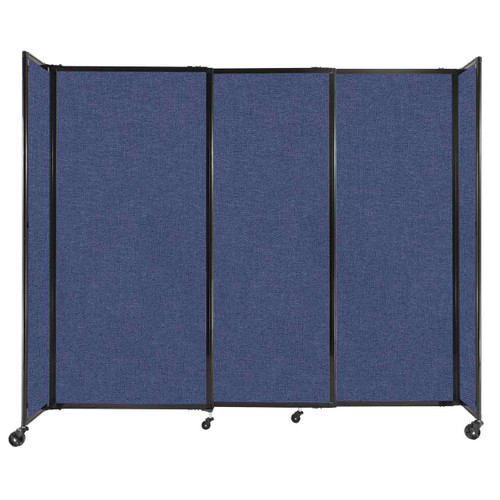 """StraightWall Sliding Portable Partition 7'2"""" x 6' Cerulean Fabric"""