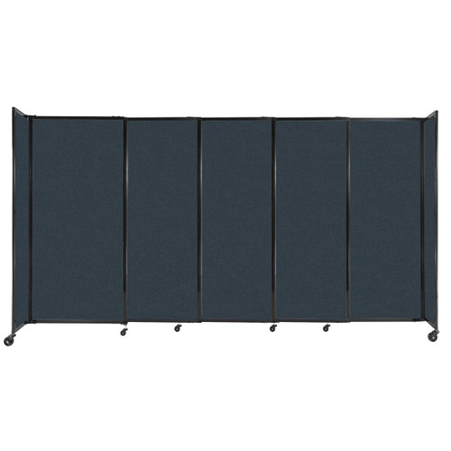 """StraightWall Sliding Portable Partition 11'3"""" x 6' Blue Spruce Fabric"""