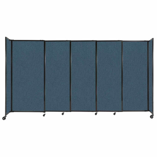 """StraightWall Sliding Portable Partition 11'3"""" x 6' Caribbean Fabric"""