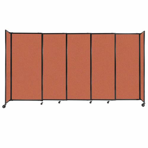 "StraightWall Sliding Portable Partition 11'3"" x 6' Papaya Fabric"