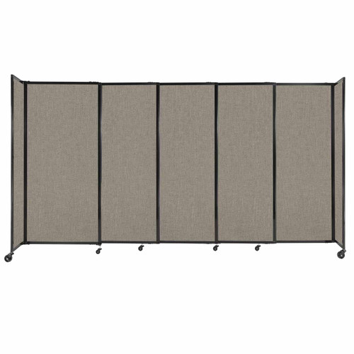 """StraightWall Sliding Portable Partition 11'3"""" x 6' Warm Pebble Fabric"""
