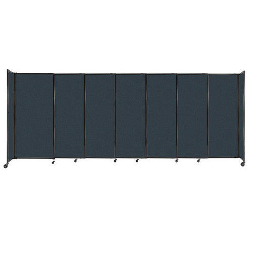 """StraightWall Sliding Portable Partition 15'6"""" x 6' Blue Spruce Fabric"""