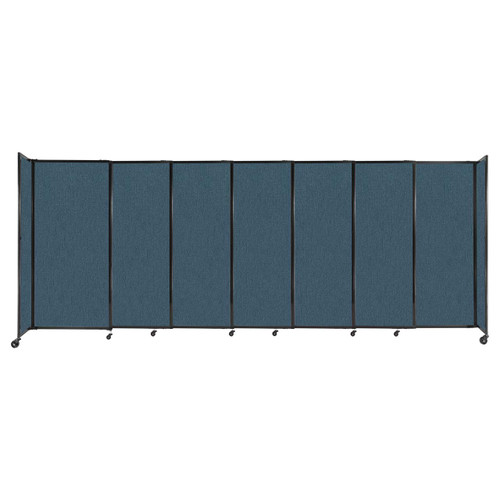 """StraightWall Sliding Portable Partition 15'6"""" x 6' Caribbean Fabric"""