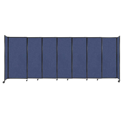 """StraightWall Sliding Portable Partition 15'6"""" x 6' Cerulean Fabric"""
