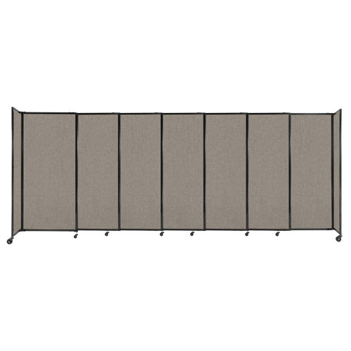 """StraightWall Sliding Portable Partition 15'6"""" x 6' Warm Pebble Fabric"""