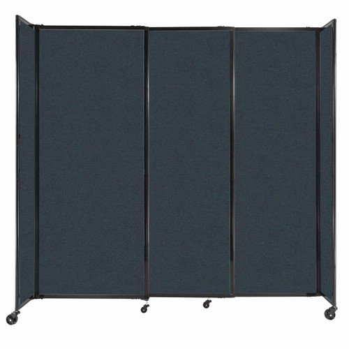 """StraightWall Sliding Portable Partition 7'2"""" x 6'10"""" Blue Spruce Fabric"""
