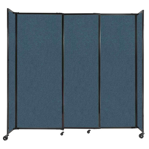 """StraightWall Sliding Portable Partition 7'2"""" x 6'10"""" Caribbean Fabric"""