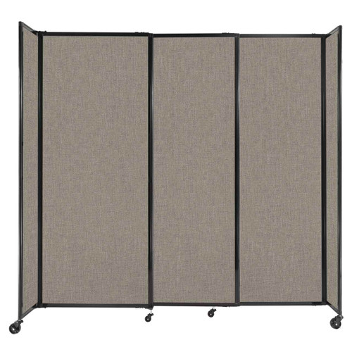 """StraightWall Sliding Portable Partition 7'2"""" x 6'10"""" Warm Pebble Fabric"""