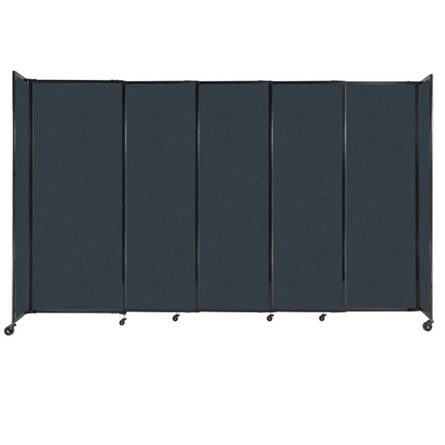 """StraightWall Sliding Portable Partition 11'3"""" x 6'10"""" Blue Spruce Fabric"""