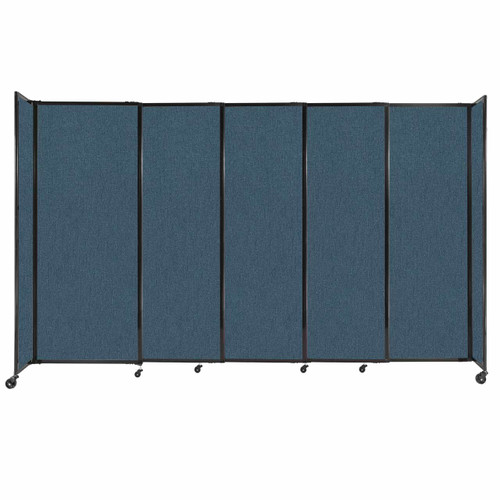 """StraightWall Sliding Portable Partition 11'3"""" x 6'10"""" Caribbean Fabric"""