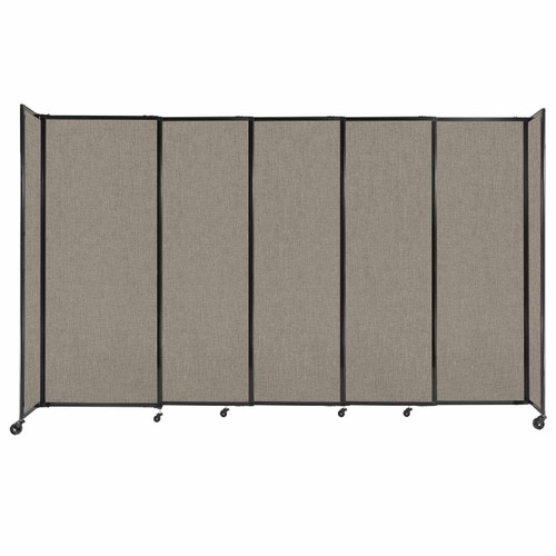 """StraightWall Sliding Portable Partition 11'3"""" x 6'10"""" Warm Pebble Fabric"""