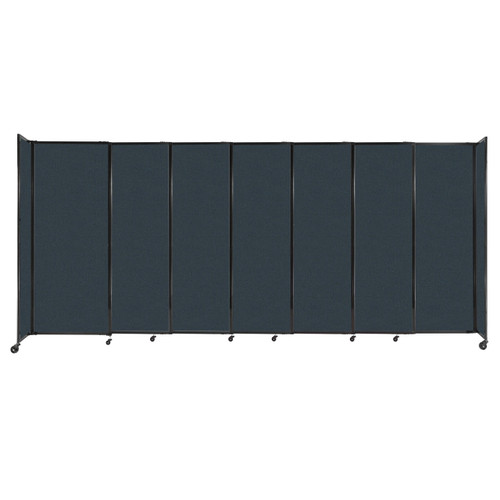 """StraightWall Sliding Portable Partition 15'6"""" x 6'10"""" Blue Spruce Fabric"""