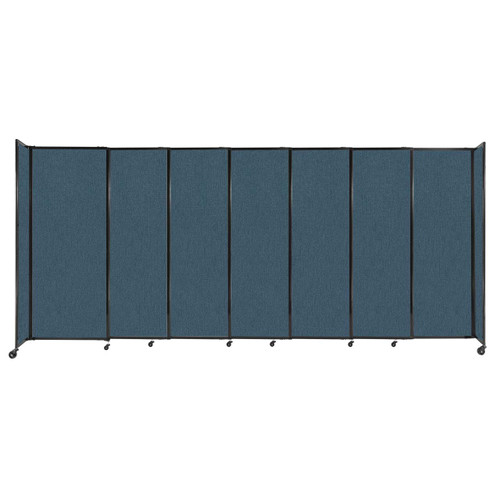 """StraightWall Sliding Portable Partition 15'6"""" x 6'10"""" Caribbean Fabric"""