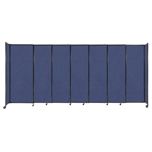 """StraightWall Sliding Portable Partition 15'6"""" x 6'10"""" Cerulean Fabric"""