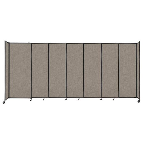 """StraightWall Sliding Portable Partition 15'6"""" x 6'10"""" Warm Pebble Fabric"""