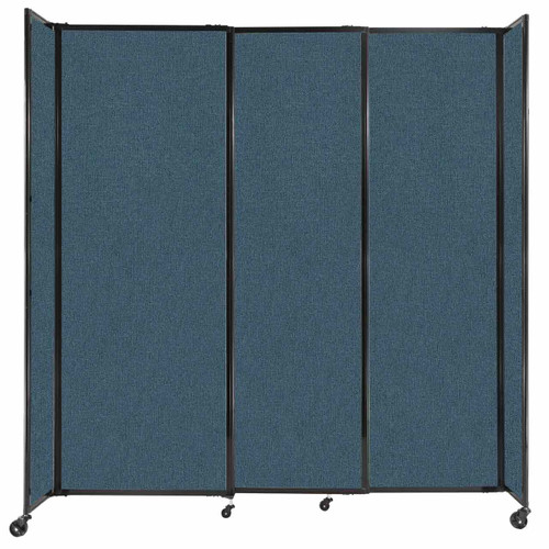 """StraightWall Sliding Portable Partition 7'2"""" x 7'6"""" Caribbean Fabric"""