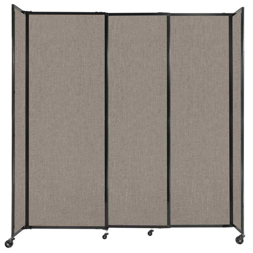 """StraightWall Sliding Portable Partition 7'2"""" x 7'6"""" Warm Pebble Fabric"""