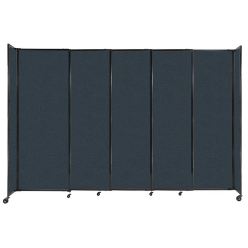 """StraightWall Sliding Portable Partition 11'3"""" x 7'6"""" Blue Spruce Fabric"""