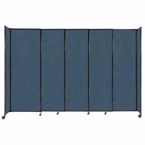 """StraightWall Sliding Portable Partition 11'3"""" x 7'6"""" Caribbean Fabric"""