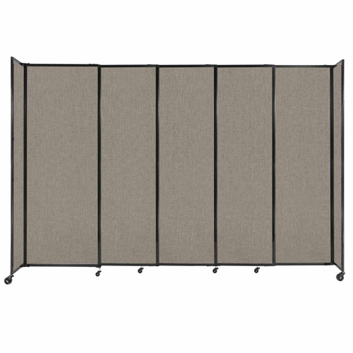 """StraightWall Sliding Portable Partition 11'3"""" x 7'6"""" Warm Pebble Fabric"""