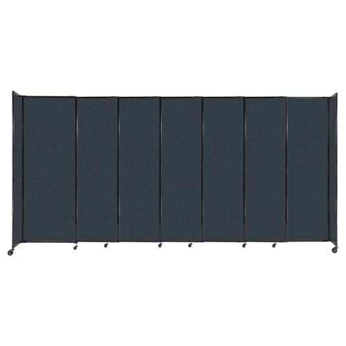 """StraightWall Sliding Portable Partition 15'6"""" x 7'6"""" Blue Spruce Fabric"""