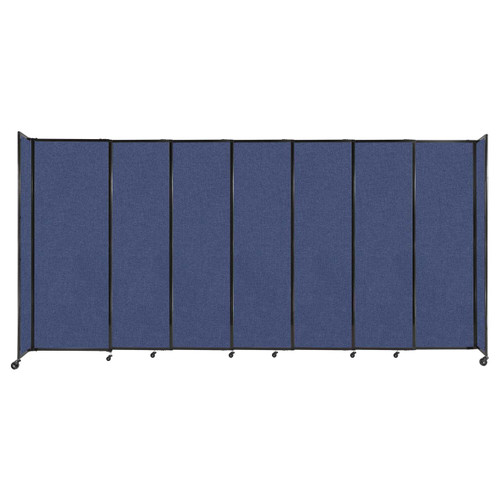 """StraightWall Sliding Portable Partition 15'6"""" x 7'6"""" Cerulean Fabric"""