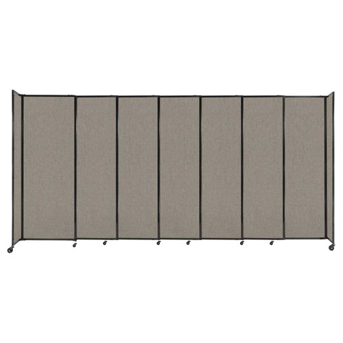 """StraightWall Sliding Portable Partition 15'6"""" x 7'6"""" Warm Pebble Fabric"""
