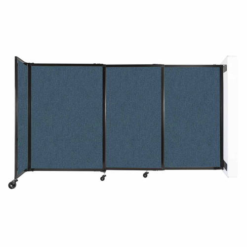 """Wall-Mounted StraightWall Sliding Partition 7'2"""" x 4' Caribbean Fabric"""