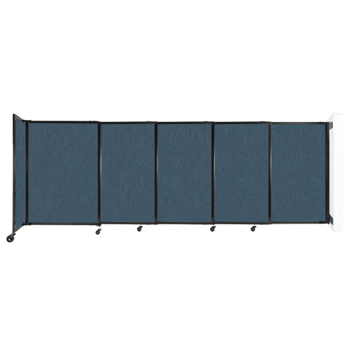 """Wall-Mounted StraightWall Sliding Partition 11'3"""" x 4' Caribbean Fabric"""