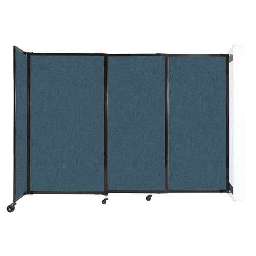 """Wall-Mounted StraightWall Sliding Partition 7'2"""" x 5' Caribbean Fabric"""