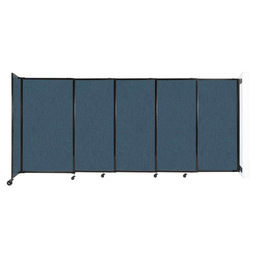 """Wall-Mounted StraightWall Sliding Partition 11'3"""" x 5' Caribbean Fabric"""
