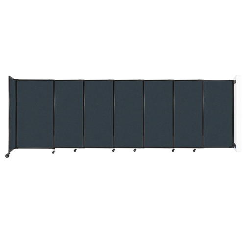 """Wall-Mounted StraightWall Sliding Partition 15'6"""" x 5' Blue Spruce Fabric"""
