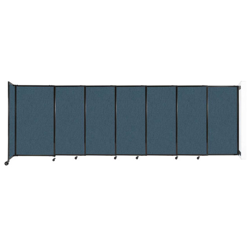 """Wall-Mounted StraightWall Sliding Partition 15'6"""" x 5' Caribbean Fabric"""