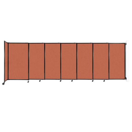 "Wall-Mounted StraightWall Sliding Partition 15'6"" x 5' Papaya Fabric"