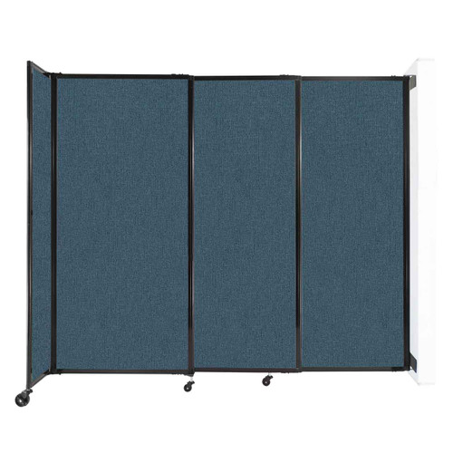 """Wall-Mounted StraightWall Sliding Partition 7'2"""" x 6' Caribbean Fabric"""