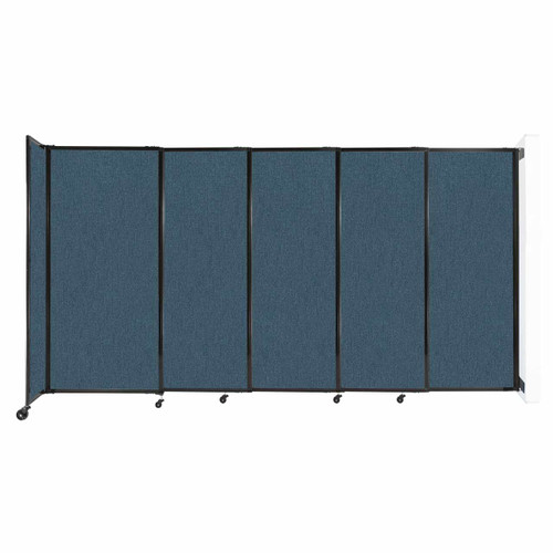 """Wall-Mounted StraightWall Sliding Partition 11'3"""" x 6' Caribbean Fabric"""