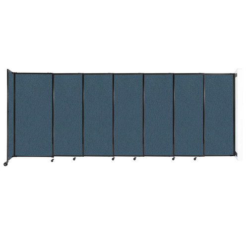 """Wall-Mounted StraightWall Sliding Partition 15'6"""" x 6' Caribbean Fabric"""