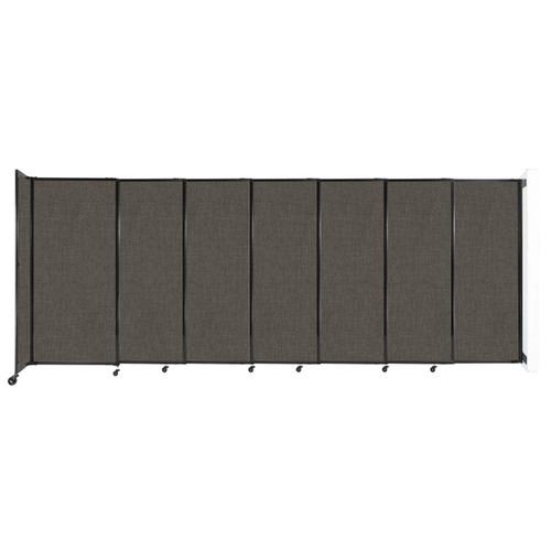 """Wall-Mounted StraightWall Sliding Partition 15'6"""" x 6' Mocha Fabric"""