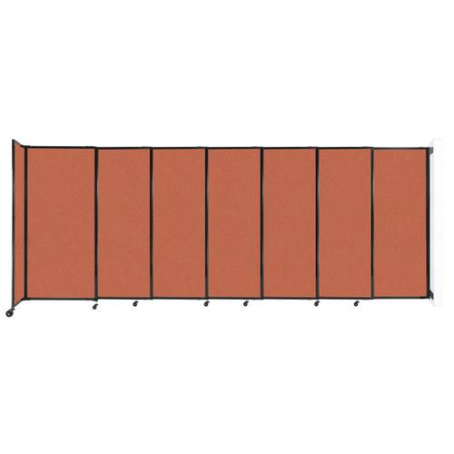 "Wall-Mounted StraightWall Sliding Partition 15'6"" x 6' Papaya Fabric"