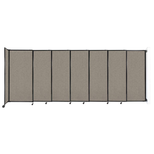 """Wall-Mounted StraightWall Sliding Partition 15'6"""" x 6' Warm Pebble Fabric"""