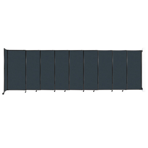 """Wall-Mounted StraightWall Sliding Partition 19'9"""" x 6' Blue Spruce Fabric"""