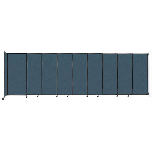 """Wall-Mounted StraightWall Sliding Partition 19'9"""" x 6' Caribbean Fabric"""