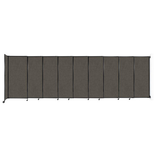 """Wall-Mounted StraightWall Sliding Partition 19'9"""" x 6' Mocha Fabric"""