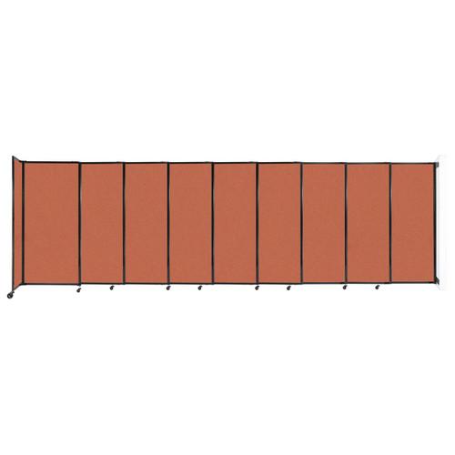 "Wall-Mounted StraightWall Sliding Partition 19'9"" x 6' Papaya Fabric"